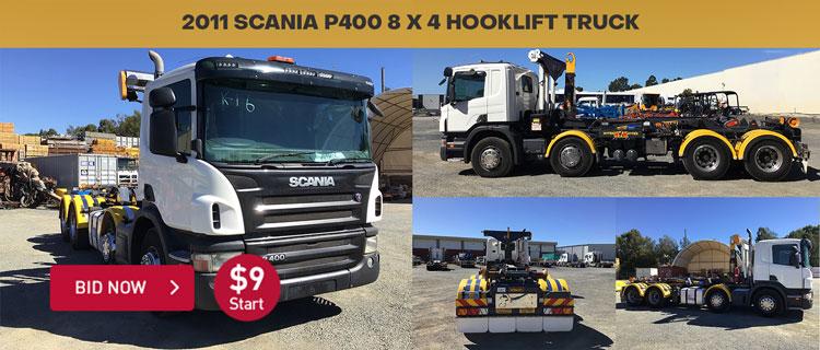 2011 Scania P400 8 x 4 Hooklift Truck