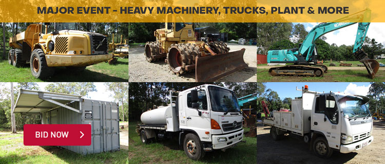 MAJOR EVENT - Heavy Machinery, Trucks, Plant & More