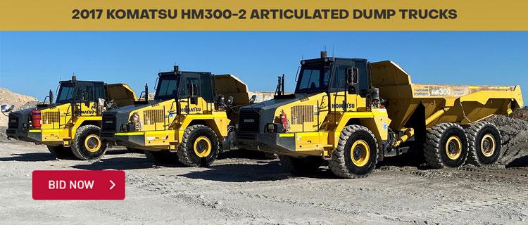 2017 Komatsu HM300-2 Articulated Dump Trucks