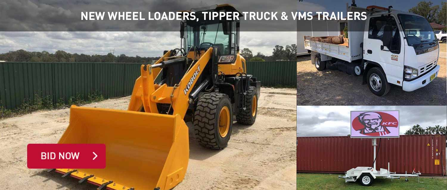 New Wheel Loaders, Tipper Truck and VMs Trailers