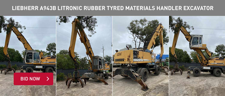 Liebherr A943B litronic Rubber Tyred Materials Handler Excavator