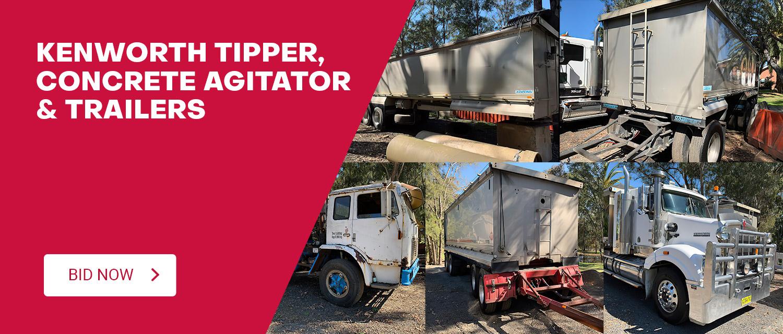 Kenworth Tipper, Concrete Agitator & Trailers