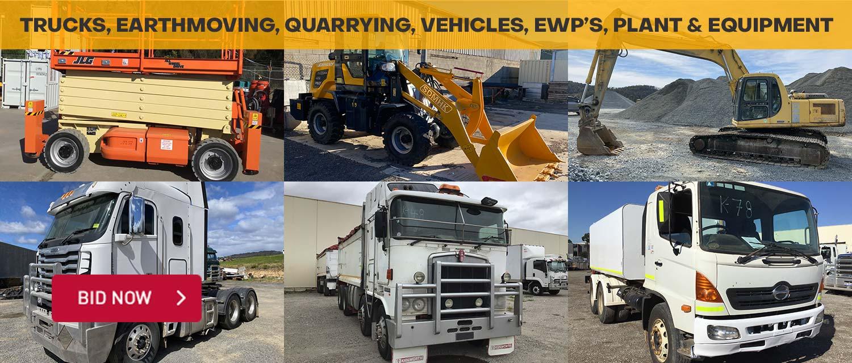 Trucks, Earthmoving, Quarrying, Vehicles, EWP's, Plant & Equipment