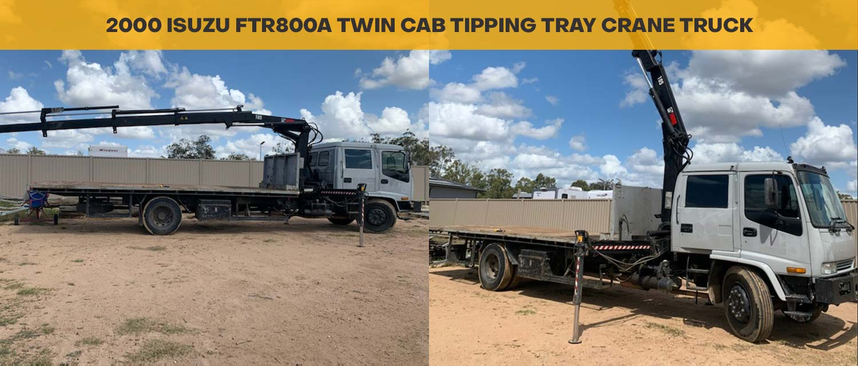 2000 Isuzu FTR800 Dual Cab Tipping Tray Crane Truck