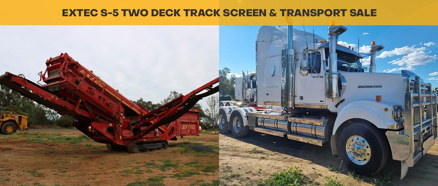 EXTEC S-5 Two Deck Track Screen & Transport Sale