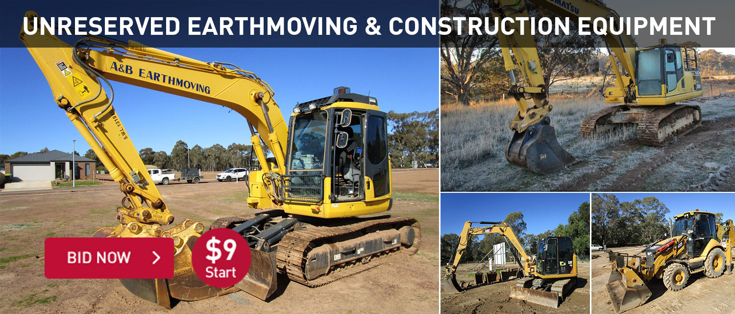 Unreserved Earthmoving & Construction Equipment