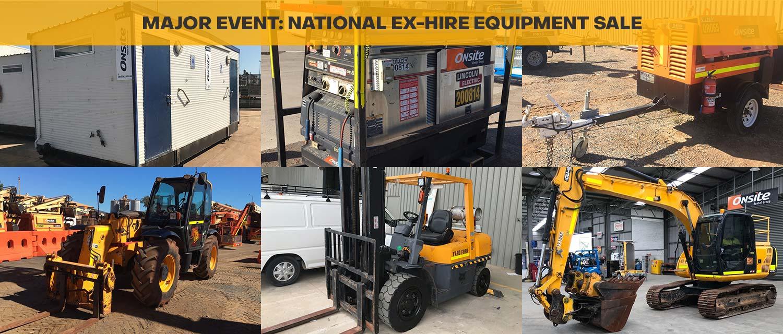 Major Event: National Ex-Hire Equipment Sale
