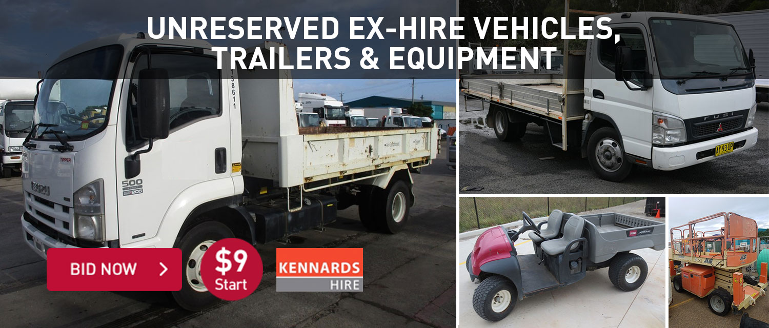 Unreserved Ex-Hire Vehicles, Trailers & Equipment