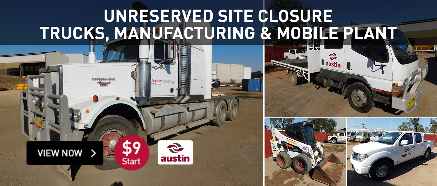 Unreserved Site Closure Trucks, Manufacturing & Mobile Plant