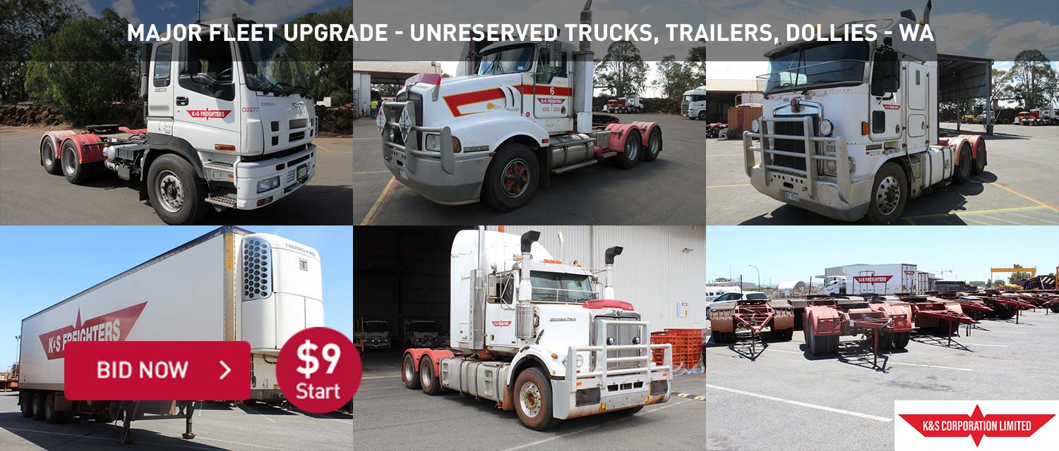 Major Fleet Upgrade Unrserved trucks, trailers, dollies