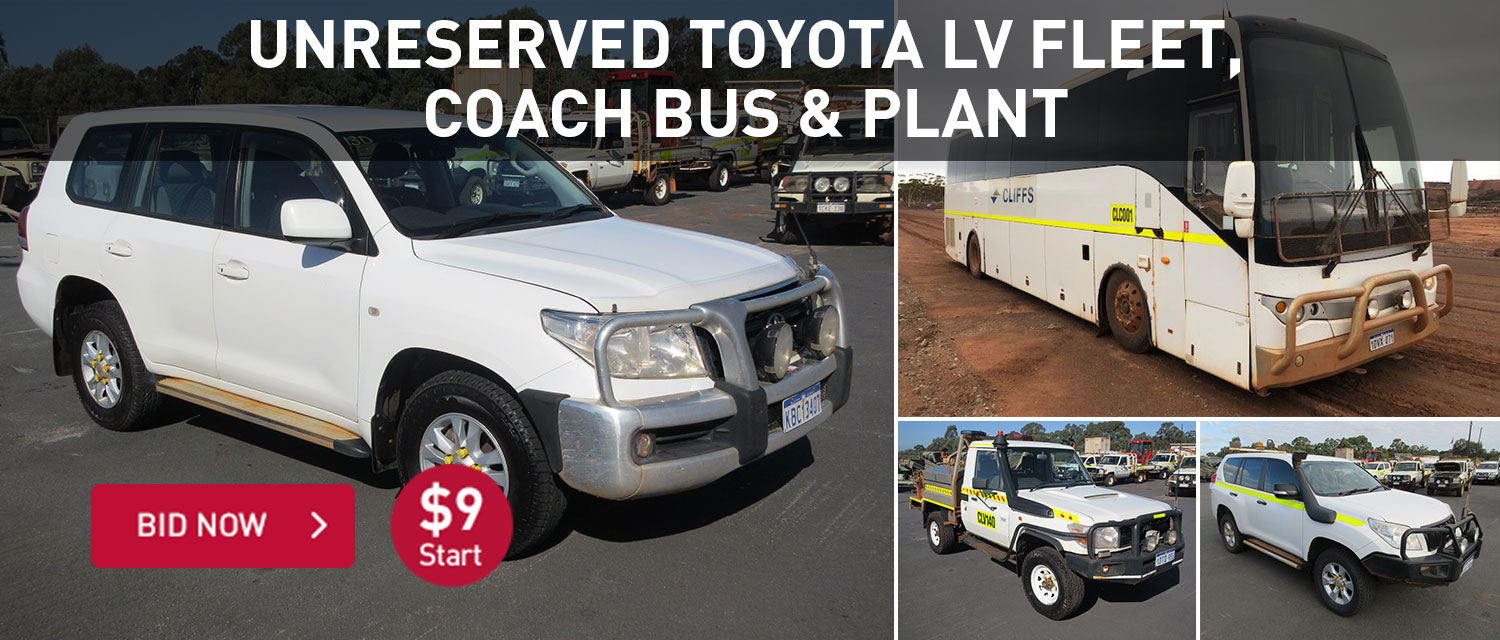 Unreserved Toyota LV Fleet, Coach Bus and PLant