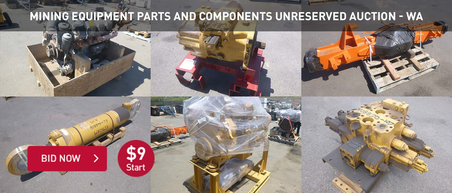 Mining equipment parts and components unreserved auction WA