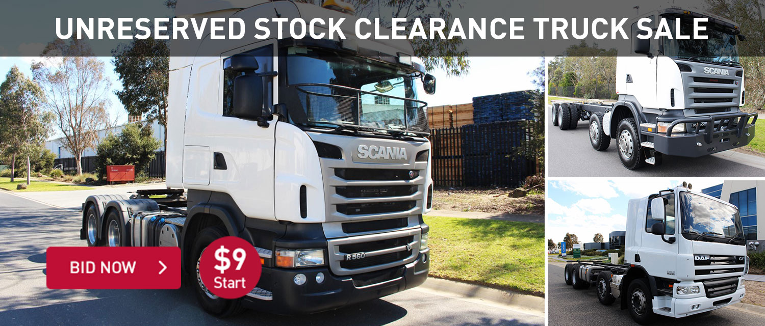 Unreserved Stock Clearance Truck Sale