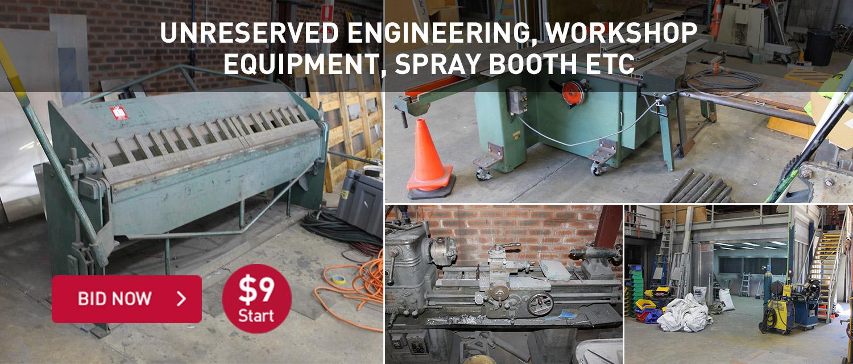Unreserved Engineering, Workshop Equipment, Spray Booth Etc
