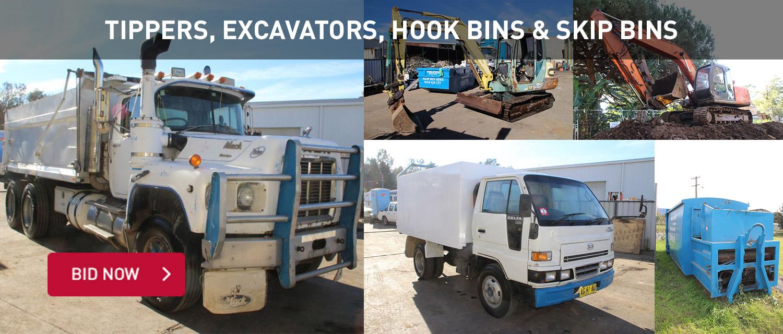 Tippers, Excavators, Hooks Bins and Skieps Bins