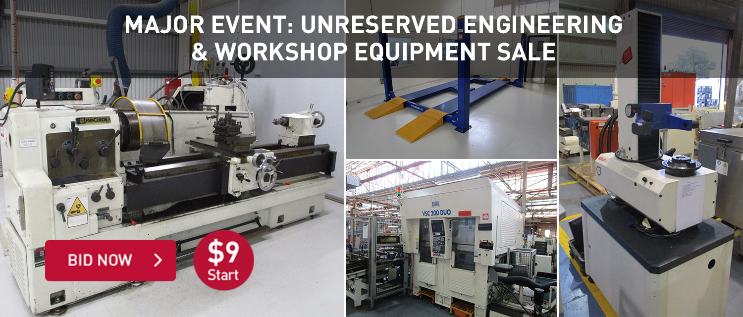 Major Event: Unreserved Engineering & workshop equipment Sale