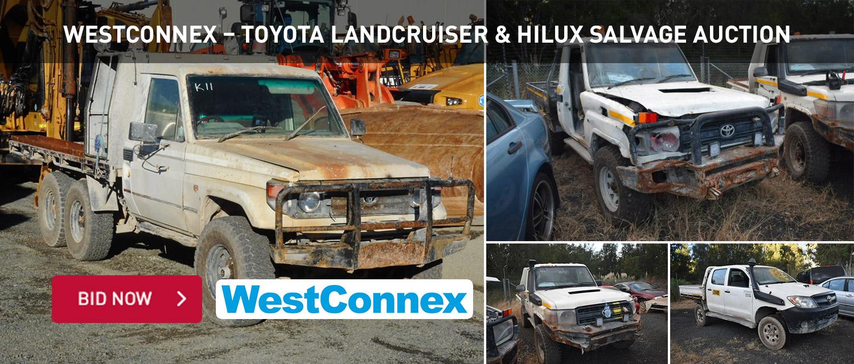 WestConnex %u2013 Toyota Landcruiser & Hilux Salvage Auction