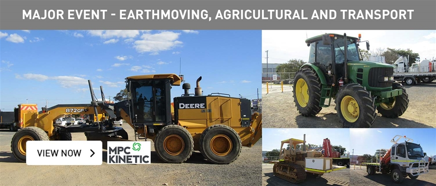 Major event earthmoving, agricultural and transport