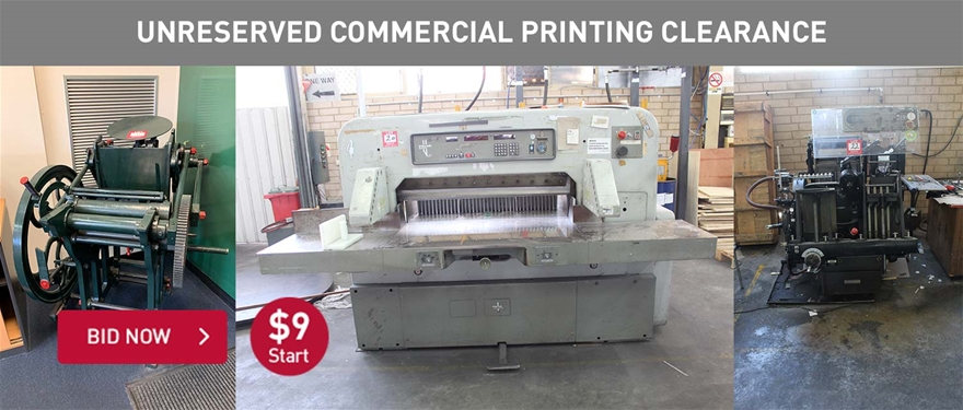 Unreserved Commercial Printing Clearance