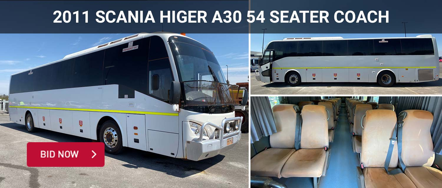 Unreserved 12/2011 Scania Higer A30 54 Seater Coach