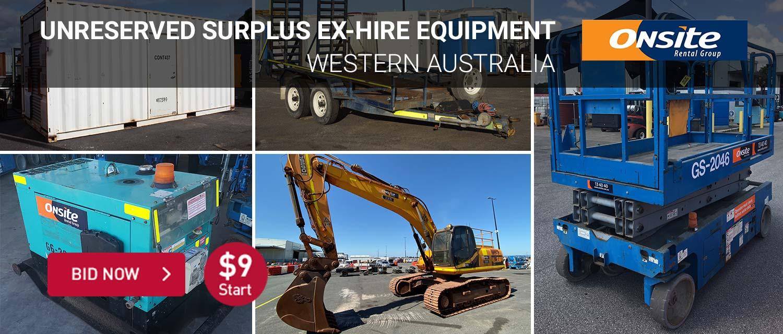 Unreserved Surplus Ex-Hire Equipment
