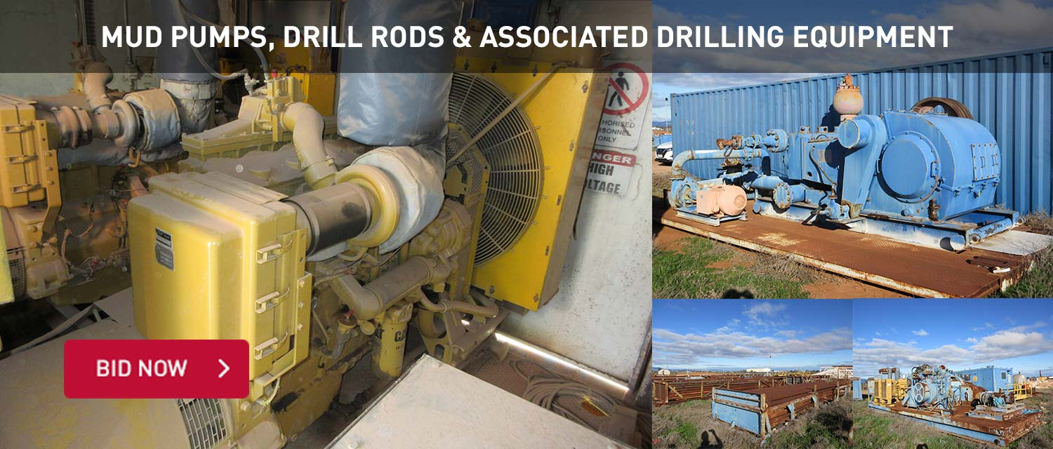 Mud Pumps, Drill Rods & Associated Drilling Equipment