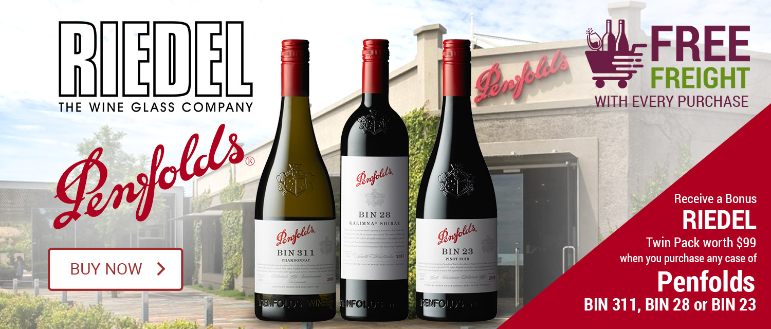 Free Riedel Wine Glasses with Selected Penfolds purchase