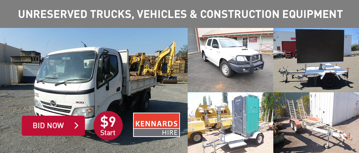 Unreserved Trucks, vehicles and construction equipment