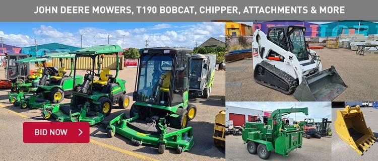 John Deere Commercial Mowers, Bobcat, Chipper & Mulchers