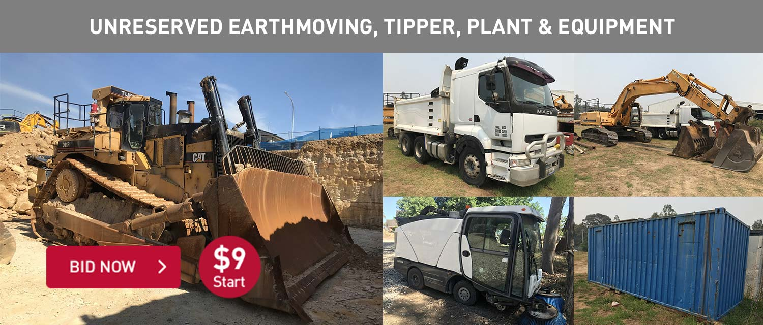 Unreserved earthmoving,tipper, plant and equipment
