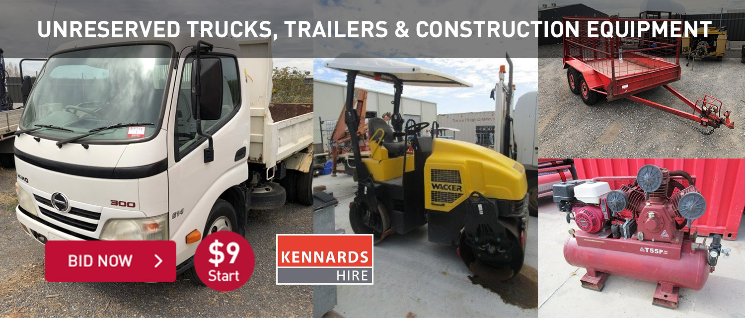 Unreserved Trucks, Trailers & Construction Equipment