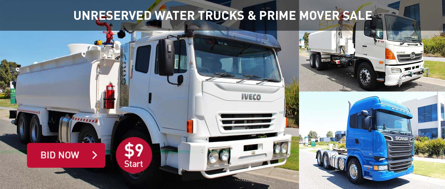 Unreserved Water Trucks and Prime Mover Sale