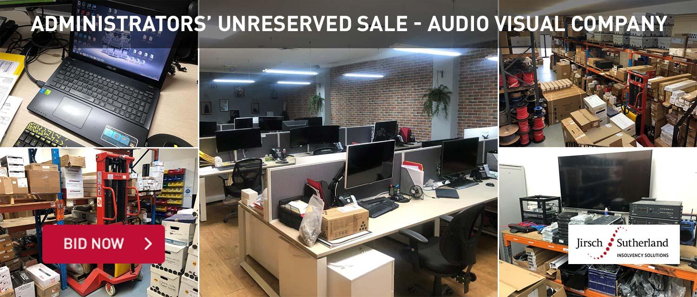 Adminstrator's Unreserved Sale- Audio Visual Company