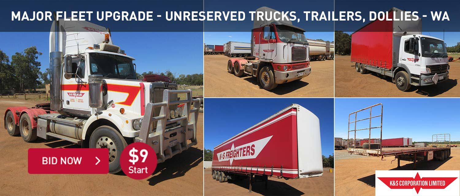 Major Fleet Upgrade - Unreserved Trucks, Trailers, Dollies WA