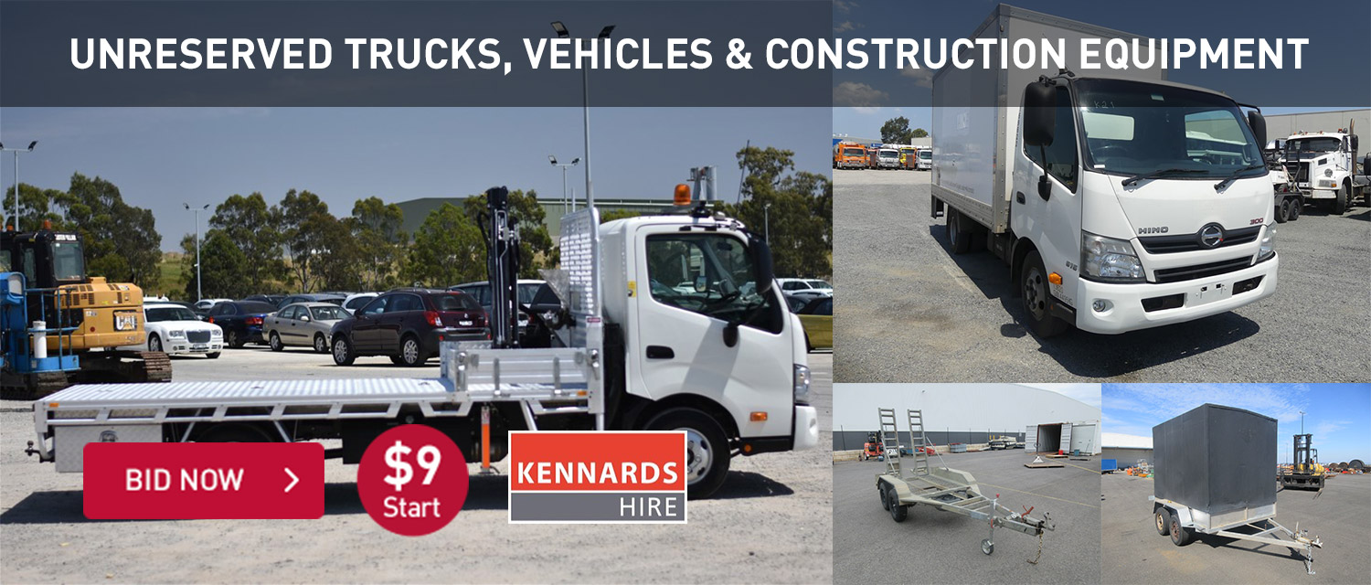 Unreserved trucks, vechiles and construction equipment