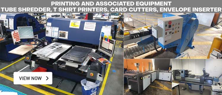 Card Cutter, Shirt Printers, Shredder & Printing Equip - EOI