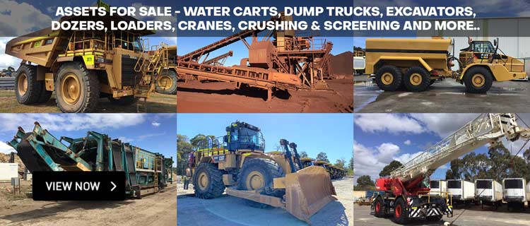 Assets For Sale - Water Carts, Dump Trucks, Excavators, Dozers, Loaders, Cranes, Crushing & Screening and more