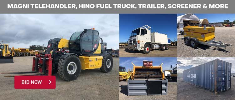 Magni Telehandler, Hino Fuel Truck, Trailer, Screener & More