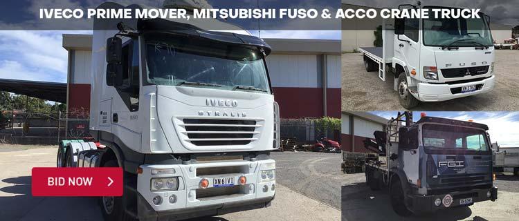 Iveco Prime Mover, Mitsubishi Fuso & ACCO Crane Truck