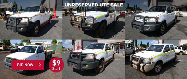 UNRESERVED UTE SALE- NT