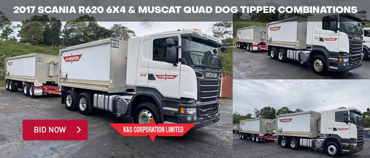 2017 Scania R620 6x4 & Muscat Quad Dog Tipper Combinations