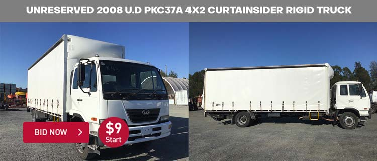 Unreserved 2008 U.D PKC37A 4x2 Curtainsider Rigid Truck