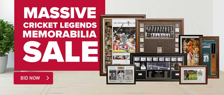 Legends Of Cricket Massive Memoribilia Sale Event