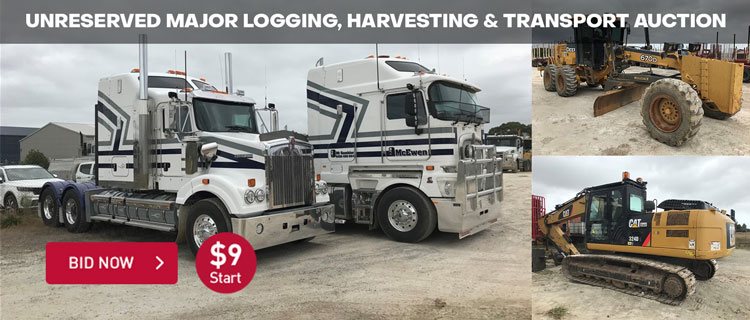 Unreserved Major Logging, Harvesting & Transport Auction