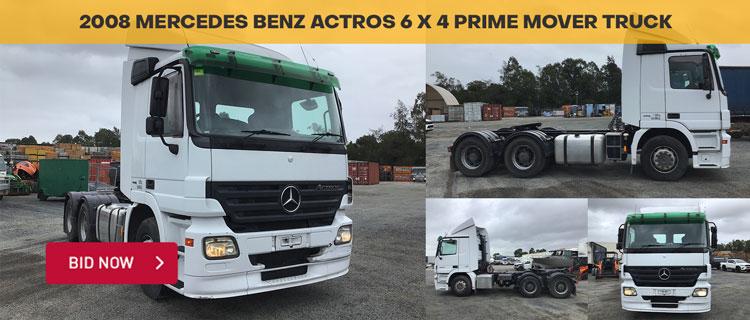 2008 Mercedes Benz ACTROS 6 x 4 Prime Mover Truck