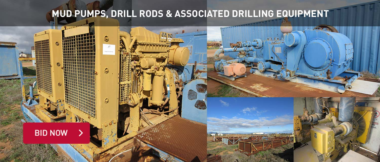 Mud Pumps, Drill Rods and Associate drilling equipment