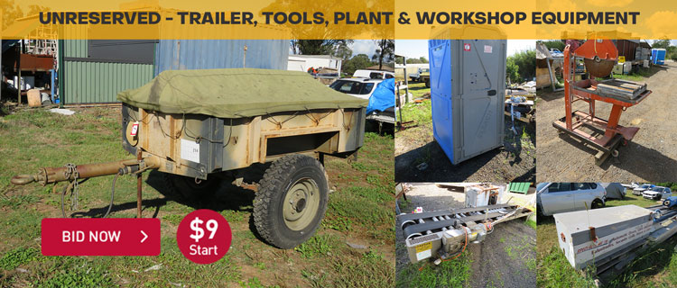 Unreserved - Trailer, Tools, Plant & Workshop Equipment