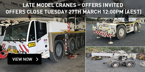 Late Model Cranes - Offers Invited