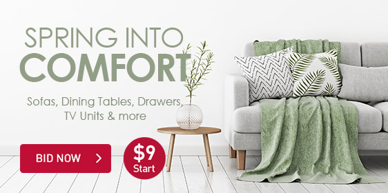 Spring Into Comfort | Sofas, Dining Tables, Drawers, TV Units & More