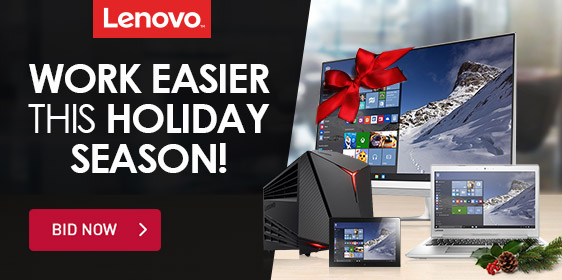 Lenovo Work Easier this Holiday Season!